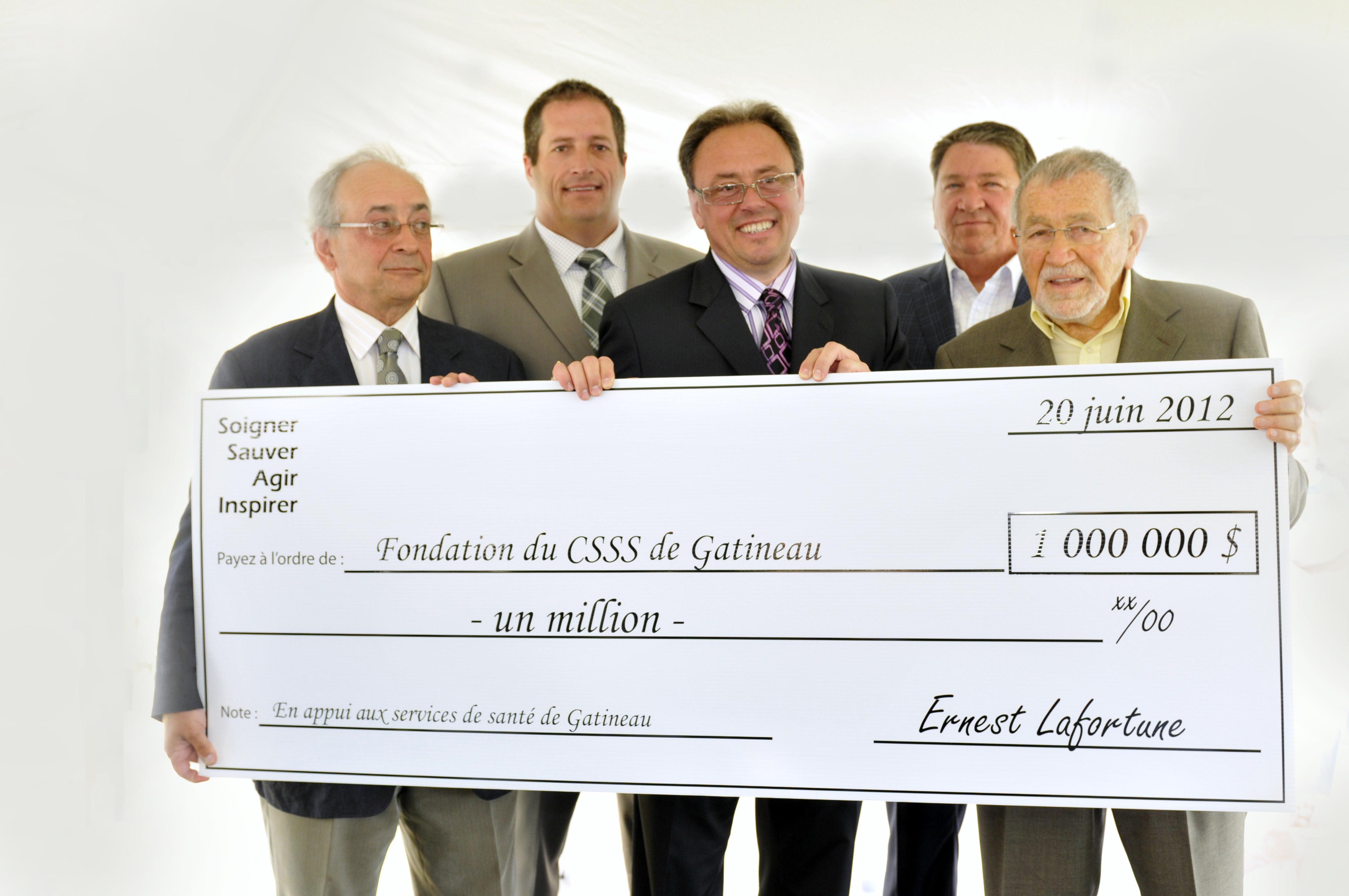 La Fondation reçoit 1 000 000 $!